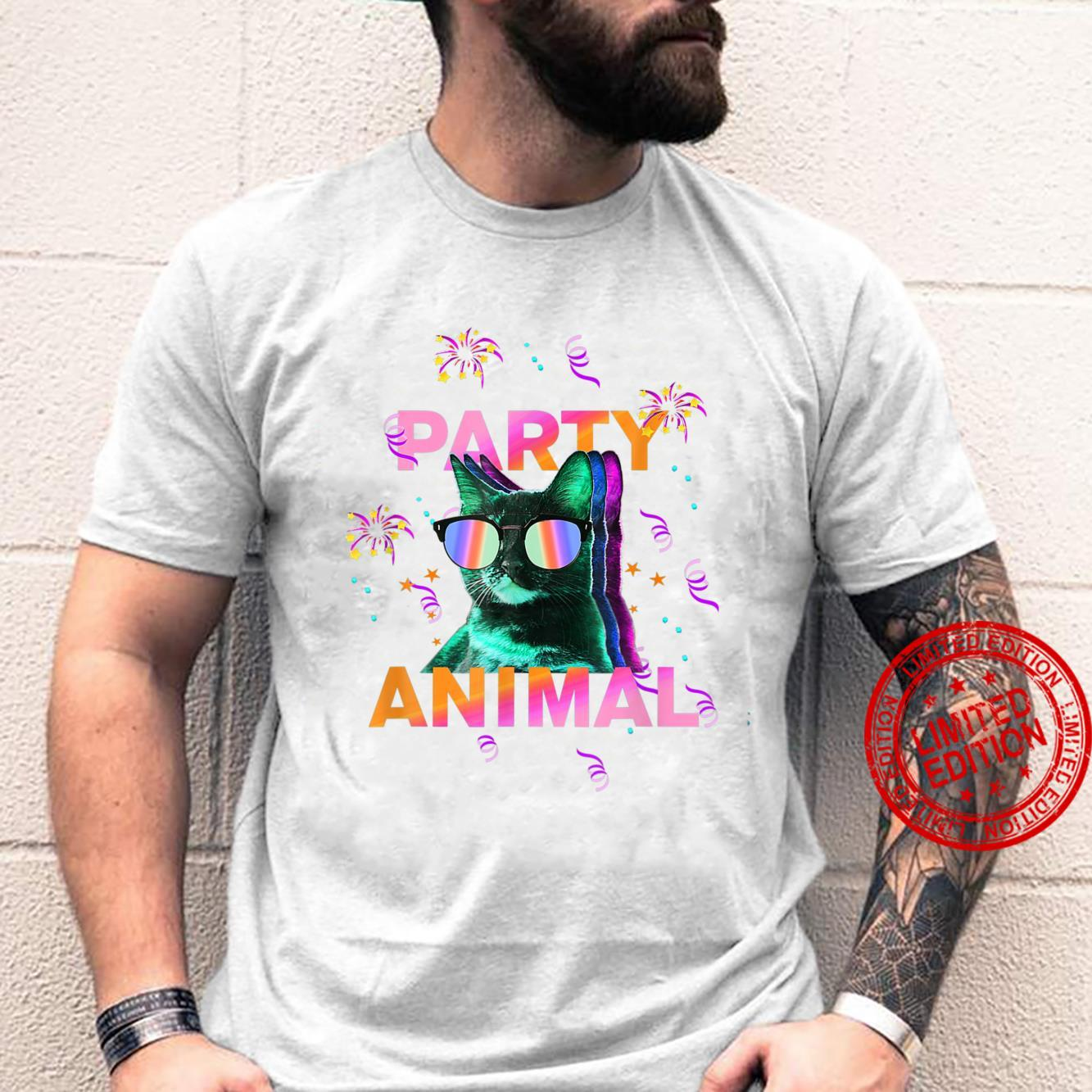 Party Cat Party Animal Colorful Shirt