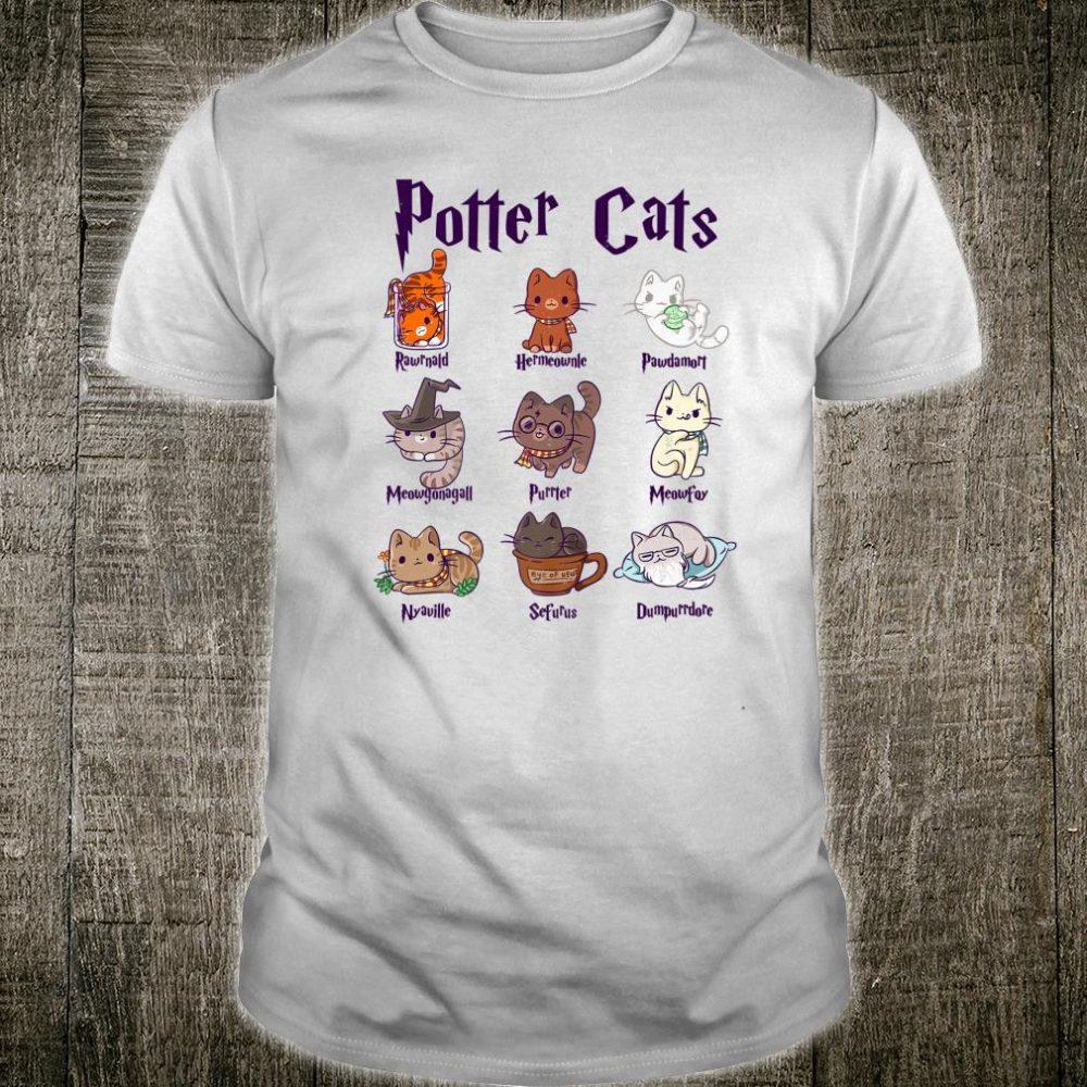 Potter Cats Cute Harry Pawter Kitten for Girls Shirt