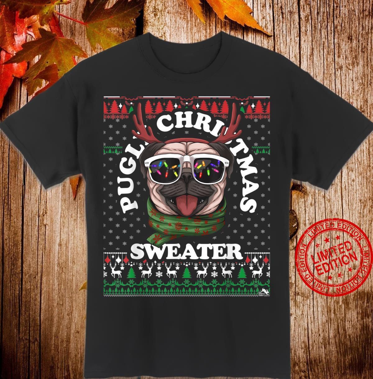 Pugly Christmas Ugly Pug Shirt