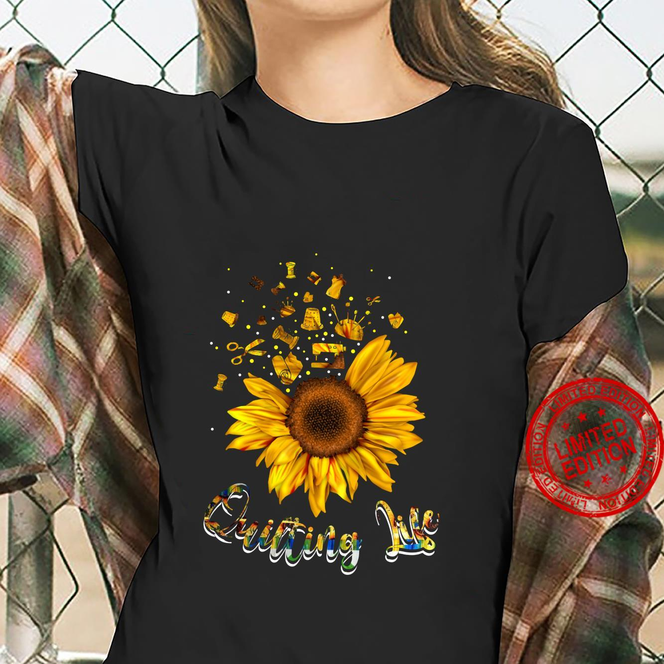 Quilting life love Sun Flower Shirt ladies tee