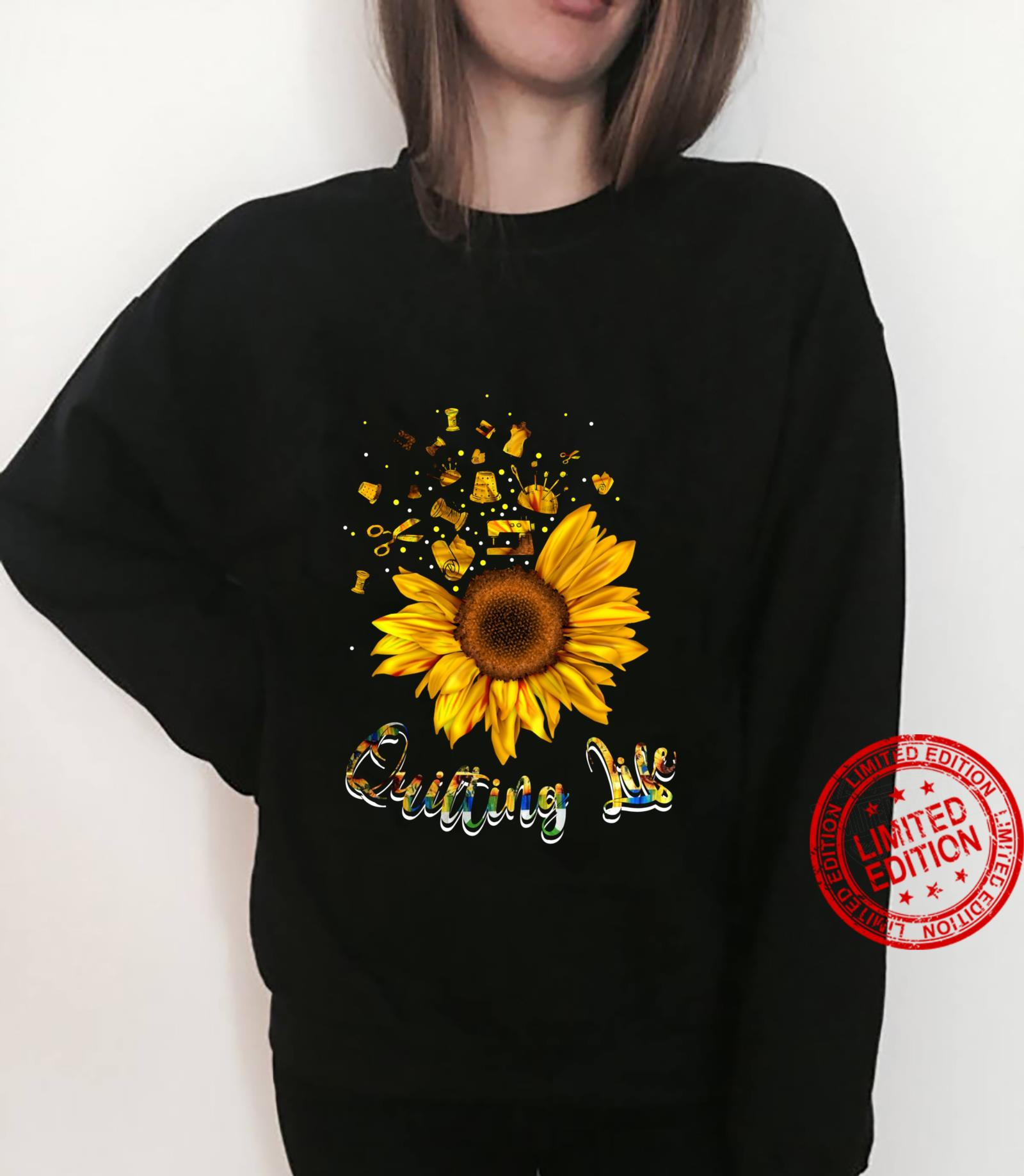 Quilting life love Sun Flower Shirt sweater