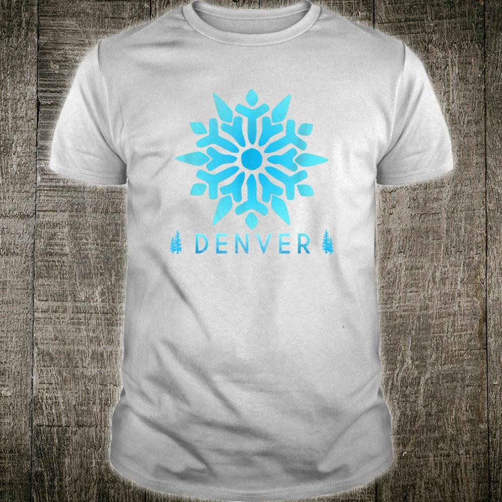 Retro Denver, Colorado Illustration Vintage Denver Snow Shirt