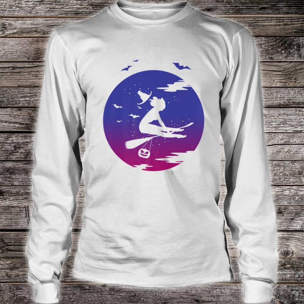 Retro Halloween Witch Outfit Gymnastics Gymnast Costume Shirt long sleeved