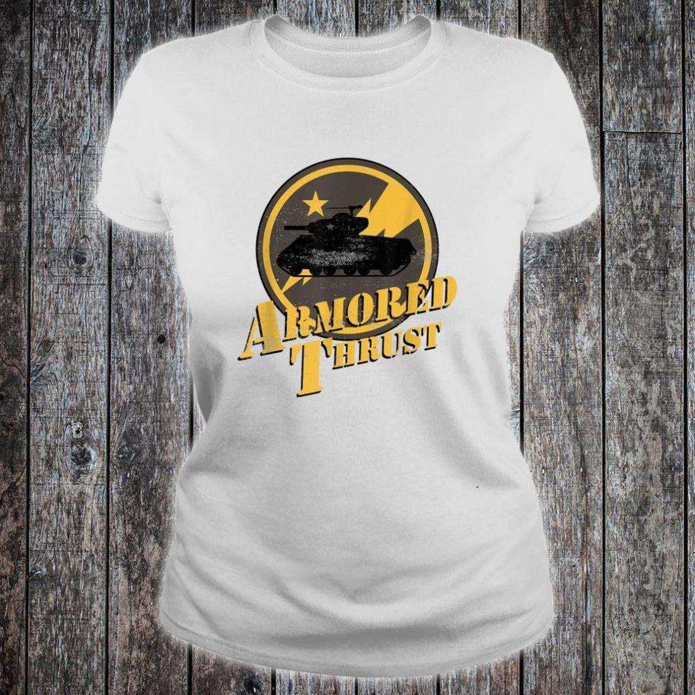 Sherman Tank Armored Thrust Shirt ladies tee