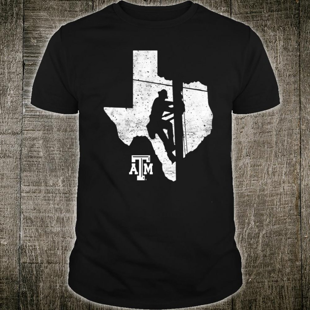 Texas A&M Aggies Lineman Lineman Inside State Map Gameday Shirt