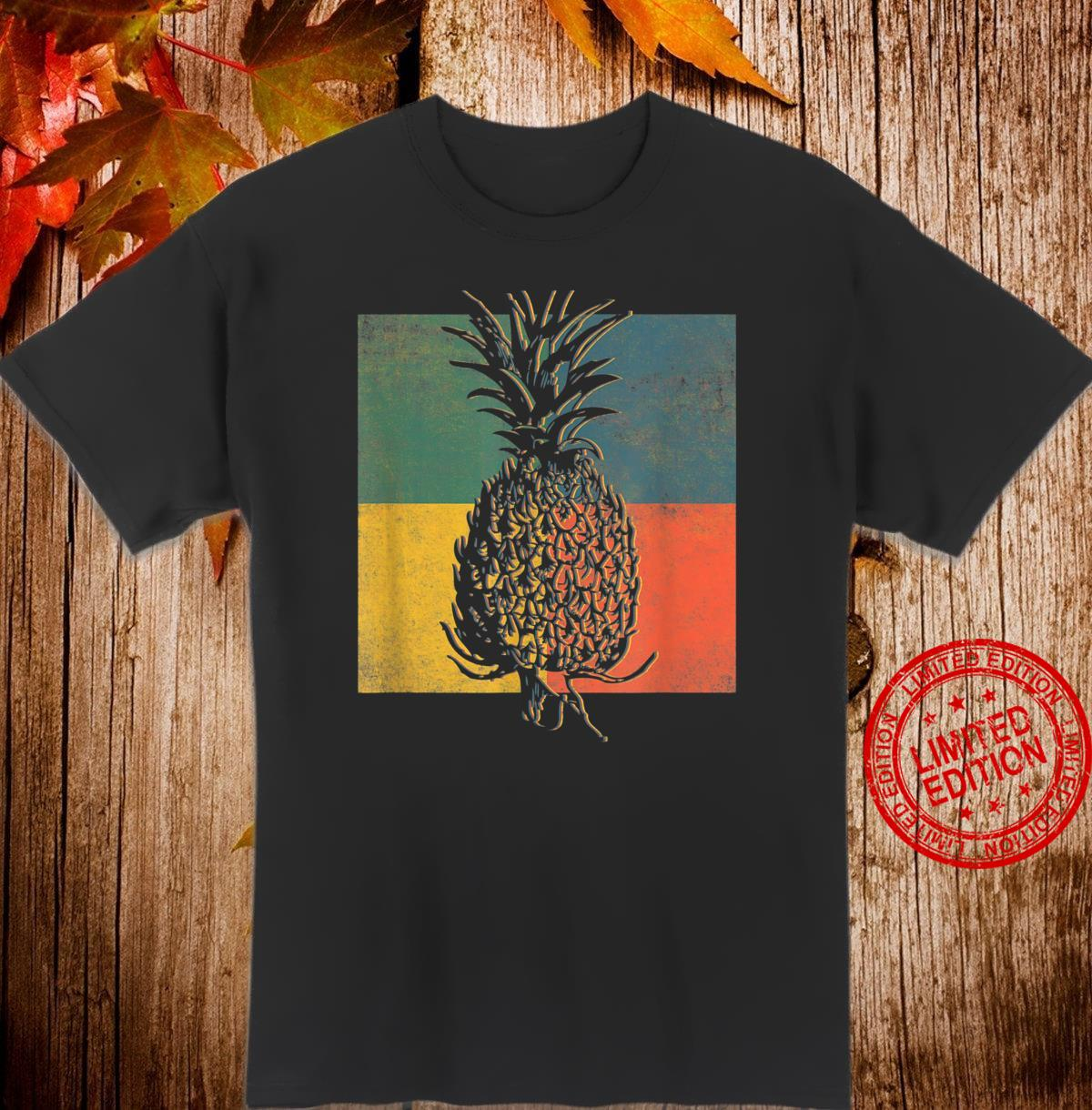 Tropical Pineapple Fruit Vintage Retro Shirt