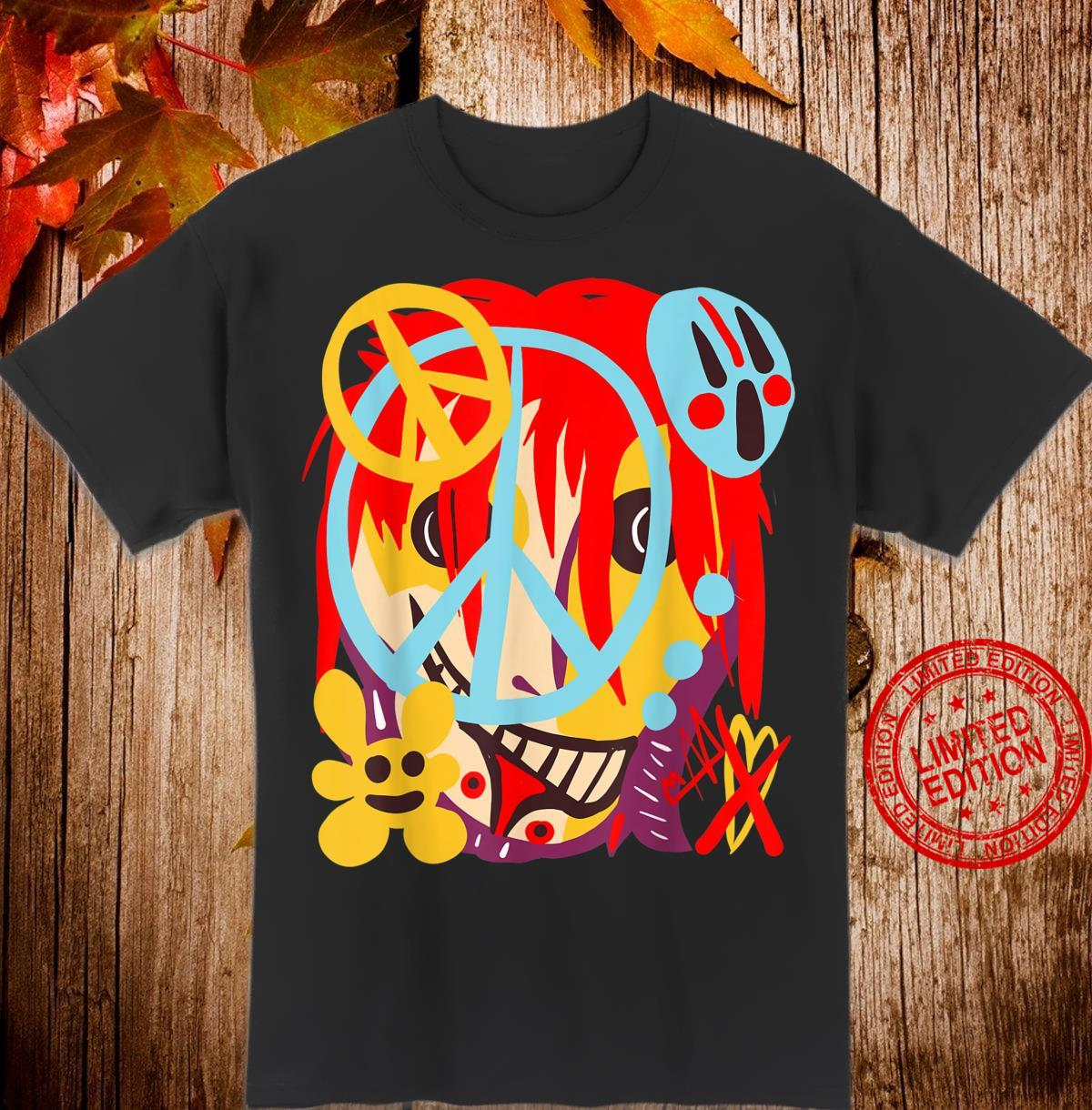 Twisted Play Arts Artistic Peace Sign Shirt