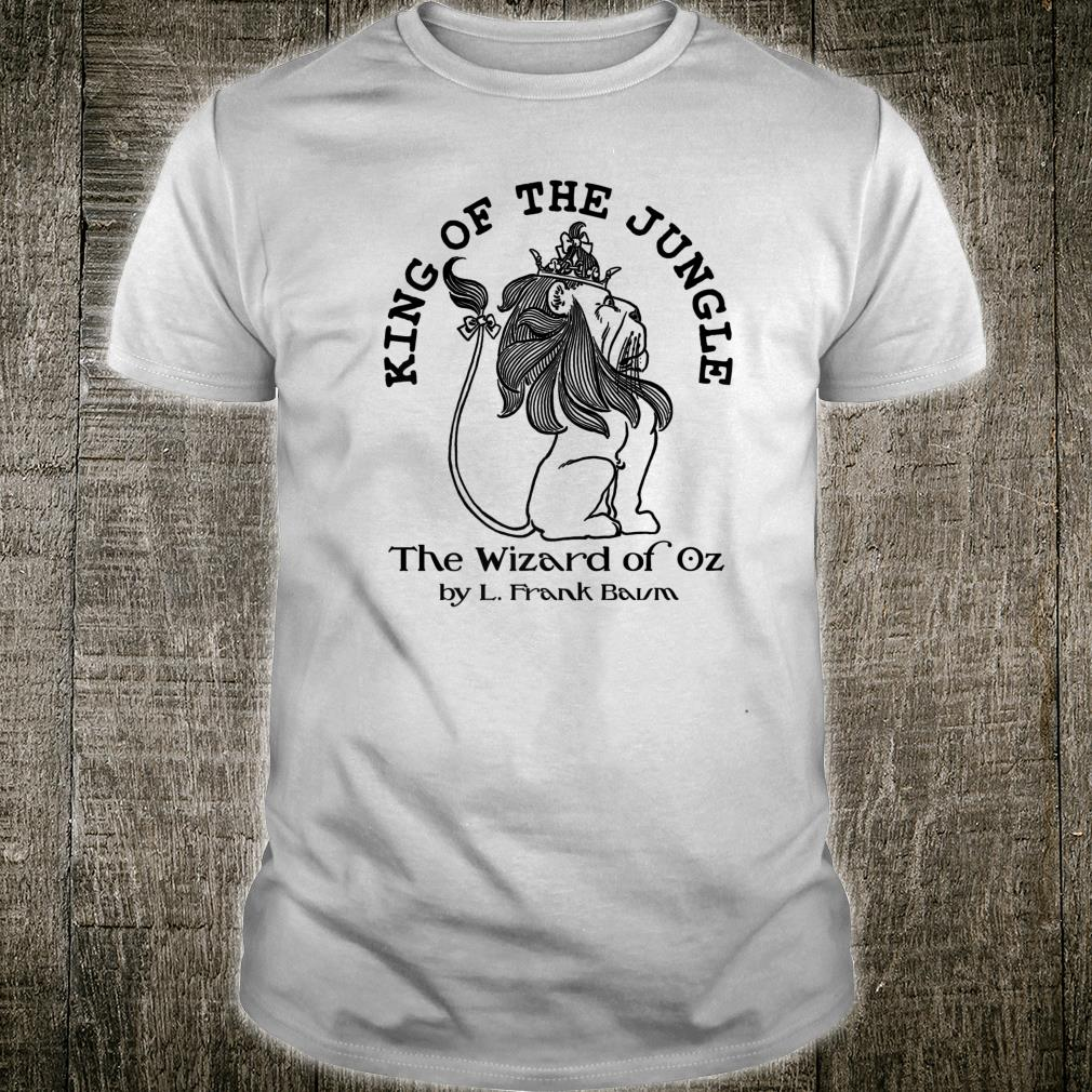 Vintage Wizard of OZ Book Art King of the Jungle Lion Shirt
