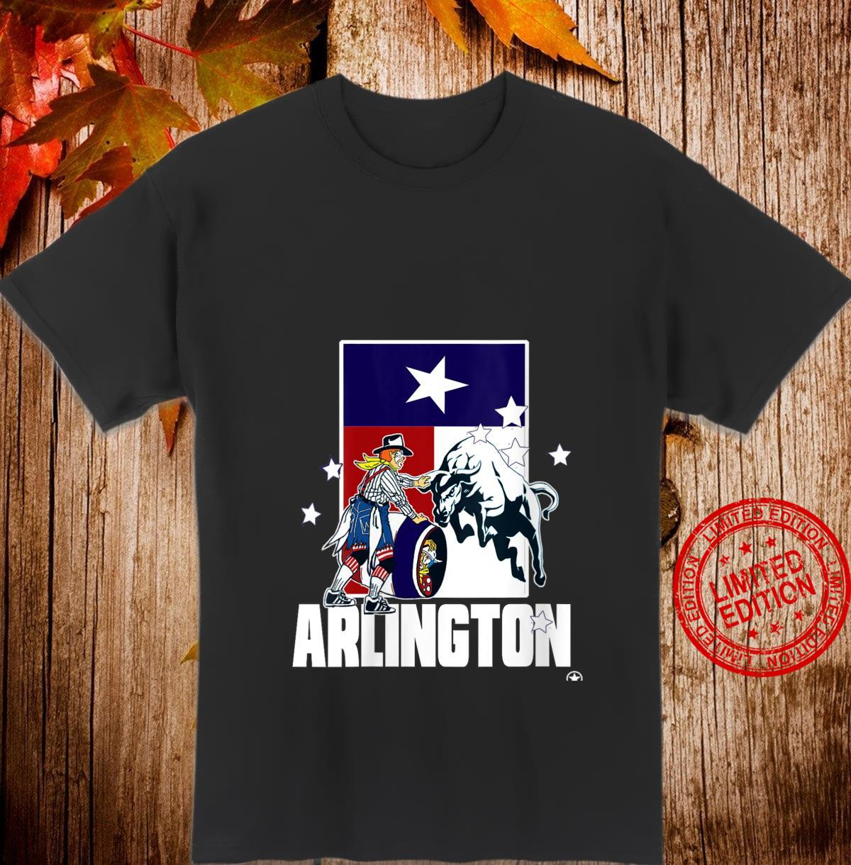 Womens Rodeo Bullfighter Clown Arlington Texas Flag Cowboy Souvenir Shirt