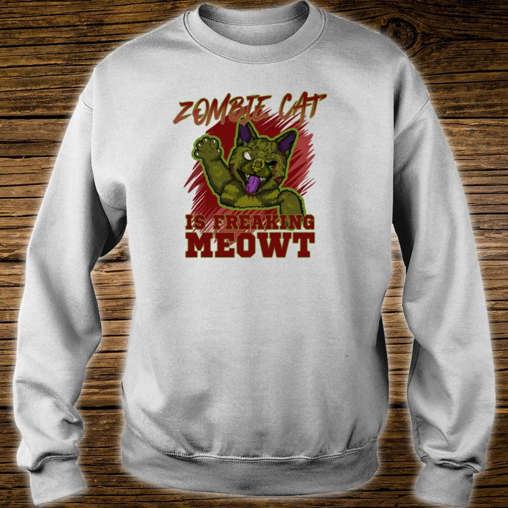 Zombie Cat Is Freaking MEOWT Halloween Costume Punny Shirt sweater